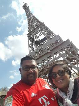 Bruce and I at the Eiffel Tower